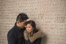 Winter Engagement Photography / All you need is love to keep each other warm!  ~ from focusphotography.ca
