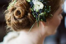 Flower weddinghairdeco