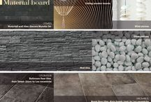 material furniture design boards / tiles, fabrics, elements