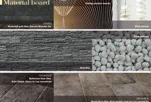 design boards / tiles, fabrics, elements