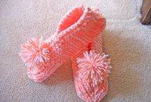 Slippers. Knitted