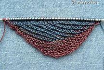 Вязаный печворк, многоцветное вязание