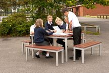 Outdoor Furniture For Schools / School outdoor furniture including outdoor tables and benches and external noticeboards. Our outdoor furniture for school is perfect for using on playgrounds and playing fields and can stay outside all year round.