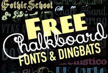 Blackboard fonts