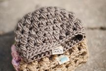 knitted hats, scarves