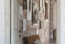 Exposed brick interior wall
