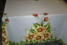 toalhas de mesa pintadas a mao 250 x150 tecido oxiford