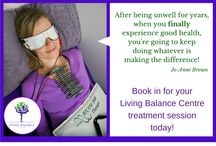 Living Balance Centre Treatment Sessions / What's involved in a Living Balance Centre treatment?  We do in-house and remote therapy sessions