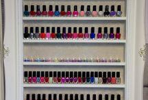 nail varnish storage / storage ideas for nail polish