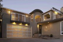 Garage Doors for Modern Style and Design / Sleek, sophisticated aluminum garage doors -- a unique look for today's more contemporary-styled homes. Crisp lines and sleek design formed from durable corrosion-resistant aluminum and light-filtering glass make a striking complement to your home.