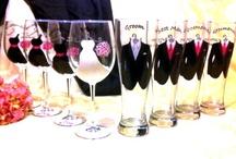 Wedding glasses/leuke bruiloft glazen