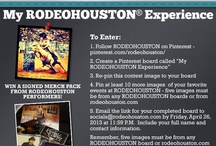 Contest | My RODEOHOUSTON Experience / Join the fun! Participate in the RODEOHOUSTON Pinterest contest! Hurry, it ends, Friday, April 26th, 2013!