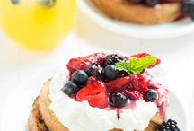 Pancakes, waffles and muffins / Food that will please many to wake up to.