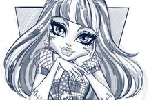 Pretty :  Monster High  drawings