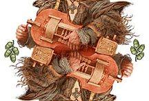 hurdy gurdy and / lira korbowa, zanfona, vielle à roue