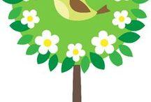 tavaszi madaras dekoráció