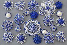 brooch bouquet pieces
