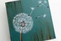 Cosmos flower,dandelion,poppy