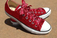 Swarovsky Converse / These shoes have multiple color options and we can custom to fit your needs.