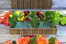 Virágláda dekor