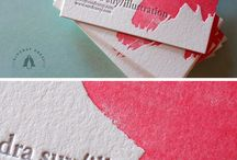 letter press business cards