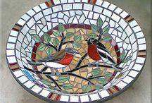 Mozaika pítka pro ptáky