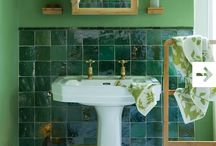 Inspiration: Green. Ideas for tiles, bathrooms and interior design. / Inspiration for your green themed project. Bathroom, kitchen, tile, interior design ideas. Visit us at ROCCIA to assist you in creating your dream room.  www.roccia.com