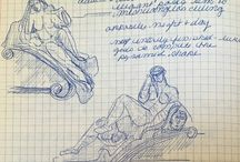 Melissa's Sketch Book / Having studied in Florence I too kept sketch books much like Sophia and Leonardo! Here are a few of my Art History Notes and sketches made in Italy during my study abroad program