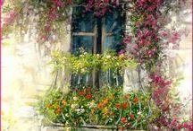 balkony i tarasy / balkony i tarasy w zieleni i kwiatach