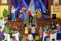 сцена концерт танцы