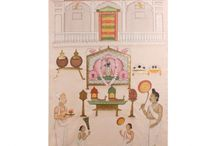 SHOP| PICHVAIS / Pichvais are exquisitely devotional paintings illustrating scenes from Lord Krishna's life; these were hung behind the sanctum of his own manifestation, Shrinathji. At The House Of Things, we aspire to revive this vanishing art form, and preserve its delicate workmanship.