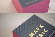 Business card inspiration / Business card designs that inspire me.
