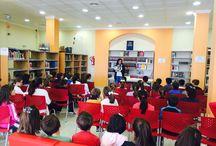 """2015-Encuentro literario infantil Mª José Rico. Biblioteca """"Anexo"""" Los Rosales"""