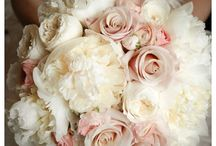 Blush pink, white and gold peony wedding