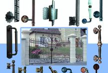 Distinguished Wrought Iron Pull Handles / Pull handles Made in Italy in a variety of hand applied paint options.  Some offset designs to allow for your lock.  They can be used on furniture, doors, gates, curtain brackets,