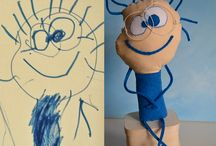 Soft toys from children's drawings / Toys