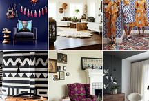 Tribal Inspired Home / Exotic, ethnic inspired décor is everywhere this spring, with bright, energizing tribal prints, African artefacts, wooden Furniture and bold, patterned rugs. This season is all about breaking conventions and creating a statement look; you can do this by combining ethnic style decorations with sleek, modern furniture.