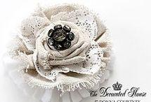 Rose di stoffa
