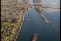Voie maritime du St-Laurent / La fabrication, les écluses depuis Montréal jusqu'aux Grands Lacs. Qu'est-ce que cela a changé pour Montréal ?