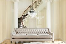 Posh Decor / Add a touch of Hollywood glamour with grand statement pieces plus glints of gold and splashes of soft sophistication