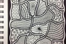 Drawing,Zentangle & Doodle