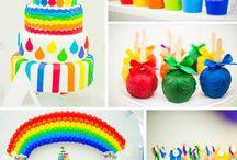 Rainbow Arts Crafts Party