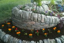 Outdoor Living in Scotland / Example of garden features using natural stone from Angus quarry