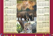 AngelJay Designs 2016 Wall Calendar Designs / Our range of Wall Calendar Designs for 2016. A1 (841 x 594mm) or A2 (420 x 594mm) Rimmed top and bottom with hanger.