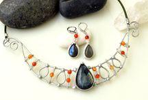 My work / Tinned jewelery