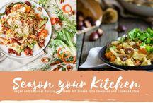 """Season your Kitchen - vegane, saisonale Blogger Rezepte / Rezepte der monatlichen Blogaktion """"Season your Kitchen"""" von Bissen für's Gewissen und Cookies&Style. Saisonale und vegane Rezepte von Bloggern."""