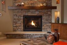 cedar fireplace mantle