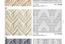 Knitting Stitches, Techniques, Charts / Knitting stitches and charts