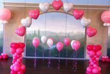 Heart Themed Balloon Decorations