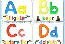 Alphabet ideas / Sites with ideas for teaching the alphabet, especially for preschool